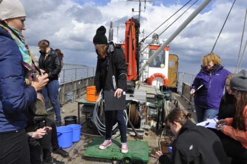 Biological sampling on the hydrographic cutter